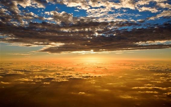 Wallpaper Beautiful scenery, sunset sky clouds