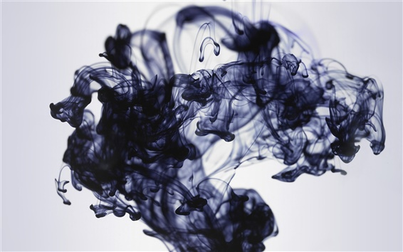 Wallpaper Black ink in water