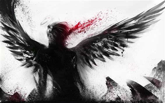 Wallpaper Bleeding of the black angel