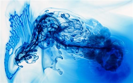 배경 화면 물에 파란색 잉크