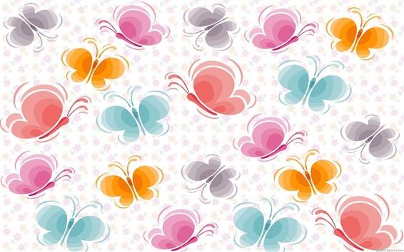 Wallpaper Butterfly pattern vector background
