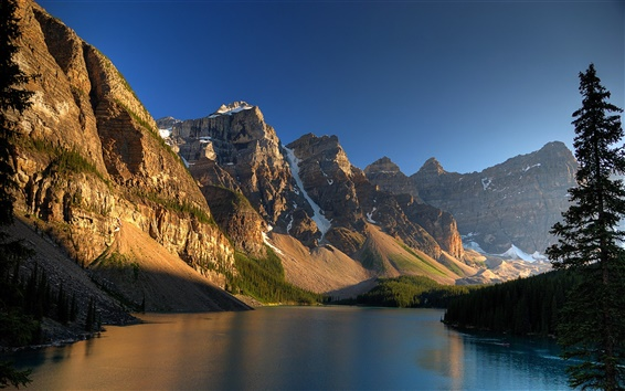 Wallpaper Canadian landscape, riparian mountain