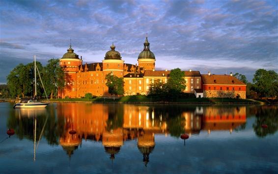Wallpaper Castle in Sweden