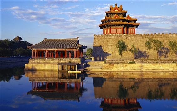 Wallpaper Chinese landscape, Royal Garden