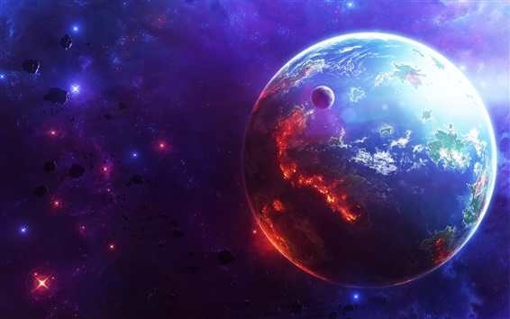 Wallpaper Cosmic explosions and catastrophes