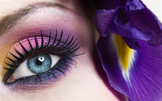 Papéis de Parede Olho azul da menina