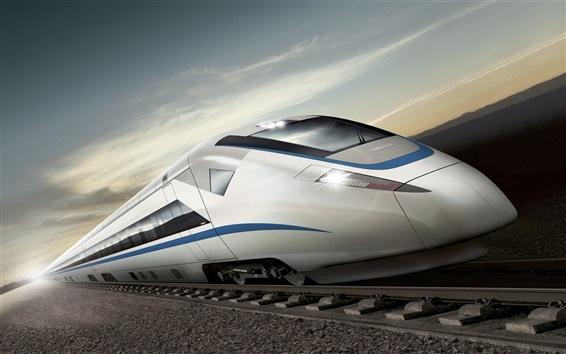 Fond d'écran Rendus de trains à grande vitesse