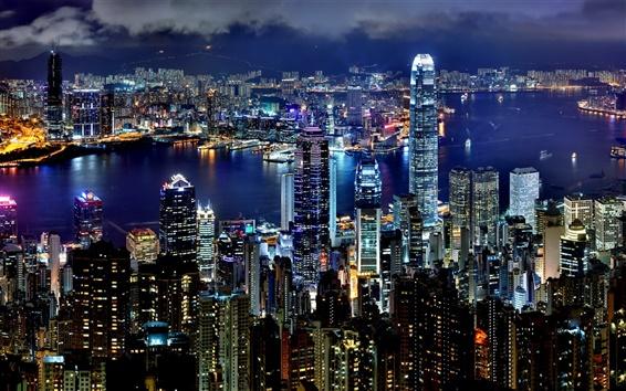 Fond d'écran Hong Kong Nuit