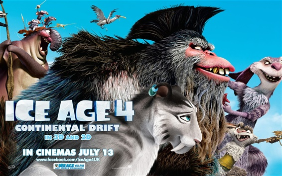 Wallpaper Ice Age 4: Continental Drift 2012 HD movie