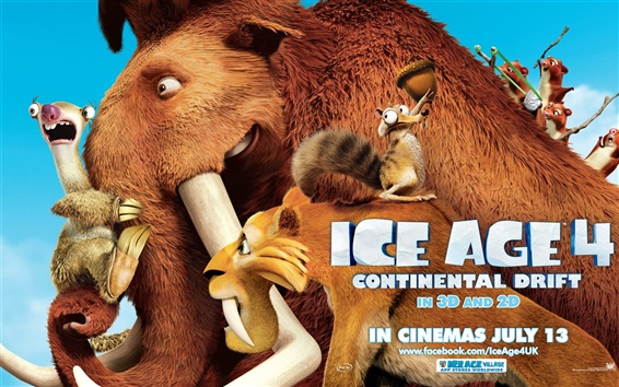 Wallpaper Ice Age 4: Continental Drift wide