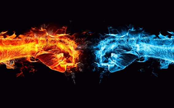 Wallpaper Ice and Fire showdown