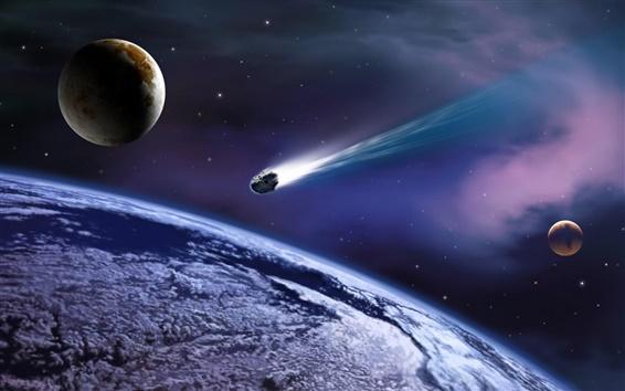Fond d'écran Meteor a frappé la planète