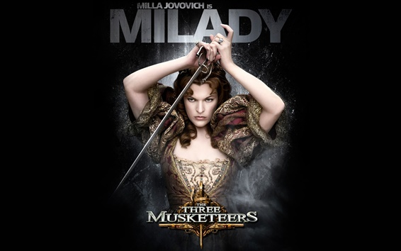 Wallpaper Milla Jovovich in The Three Musketeers