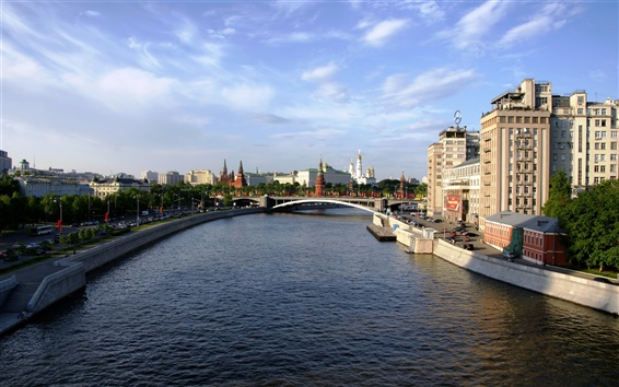 Wallpaper Moscow city river