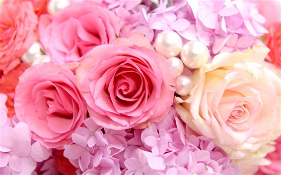 Wallpaper Pink roses background