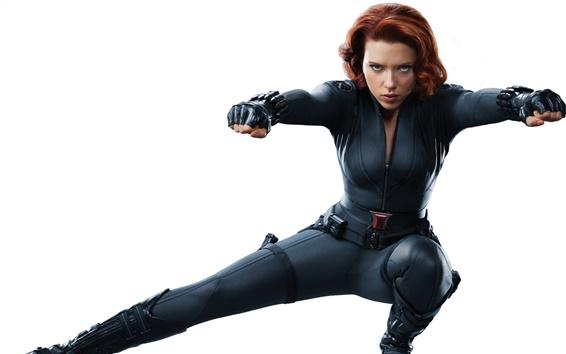 Wallpaper Scarlett Johansson in The Avengers 2012