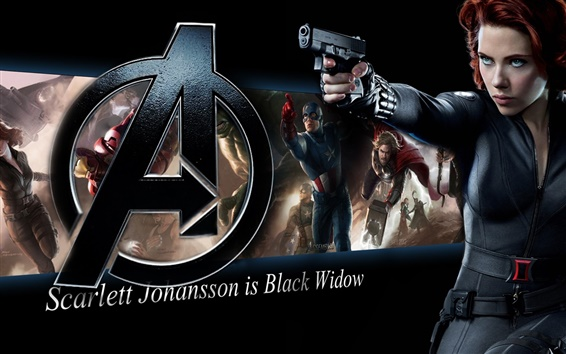 Wallpaper Scarlett Johansson is Black Widow, The Avengers