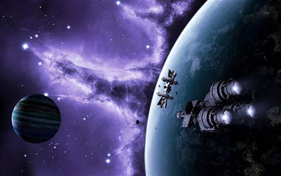 Wallpaper Spaceships in space