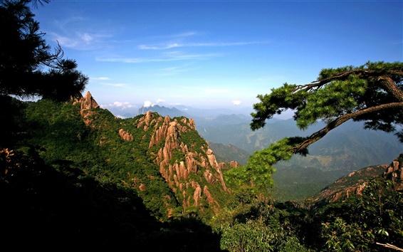배경 화면 가파른 산악 전망