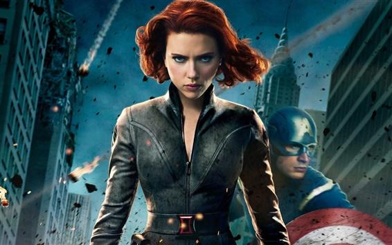 Wallpaper The Avengers 2012, Scarlett Johansson