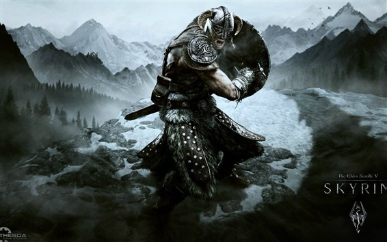 Wallpaper The Elder Scrolls V: Skyrim game HD