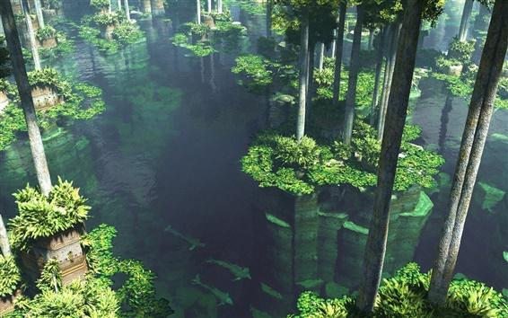 Wallpaper The floating garden