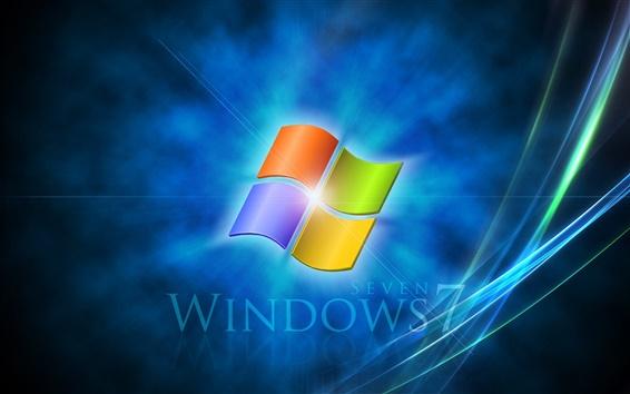 壁紙 Windows 7のブルー·イマジネーション