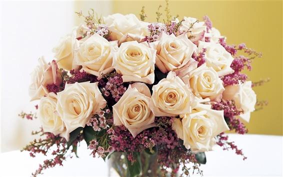 Papéis de Parede Um buquê de rosas quentes