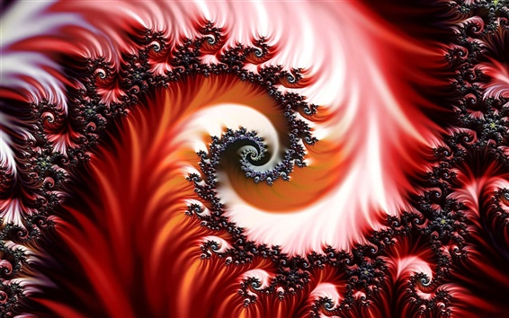 Wallpaper Abstract spiral pattern
