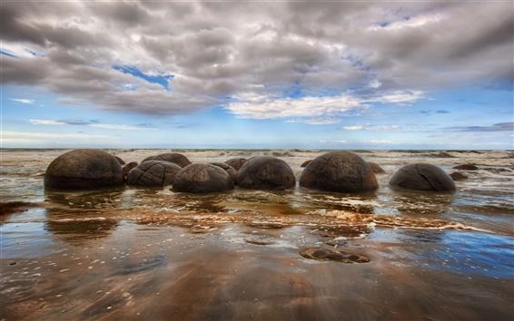 Wallpaper Beach stones