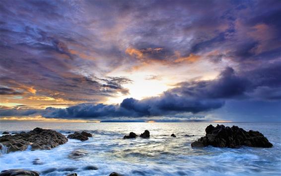 Wallpaper Beautiful colorful ocean sky