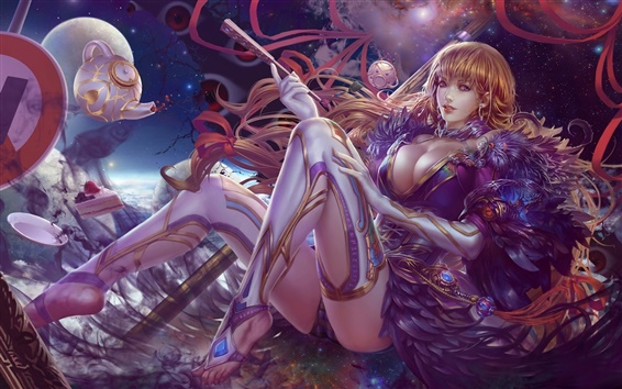 Wallpaper Beautiful fantasy girl magic