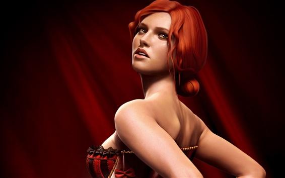 Fondos de pantalla Hermosa chica en The Witcher 2: Assassins of Kings