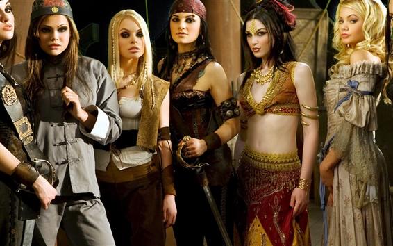 Wallpaper Beautiful girls in Pirates 2: Stagnettis Revenge