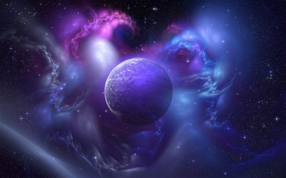 Fond d'écran Bleu univers, la planète