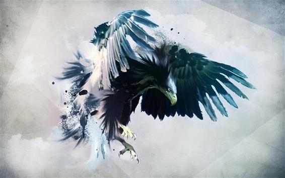 Fondos de pantalla Pintura creativa, la poderosa águila