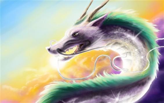 Wallpaper Creative watercolor fantasy dragon