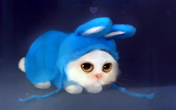 Fond d'écran Peinture aquarelle mignon chaton