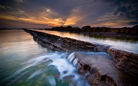 Fondos de pantalla Anochecer belleza de la escalera del agua