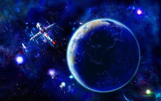 Papéis de Parede Terra e os satélites no espaço