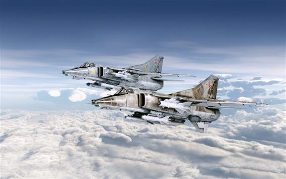 Wallpaper Fighter MiG-27