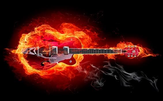 Wallpaper Fire guitar creative