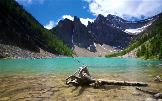 Обои Озеро Агнес Банф Канада