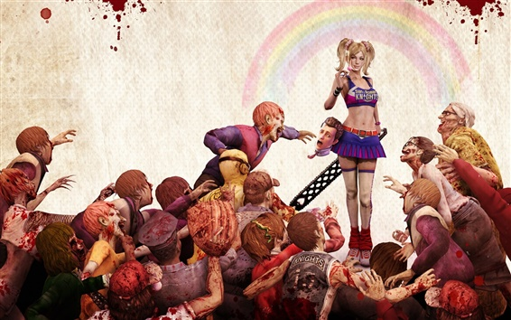 Wallpaper Lollipop Chainsaw game wide