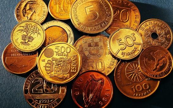 Wallpaper Money coins close-up