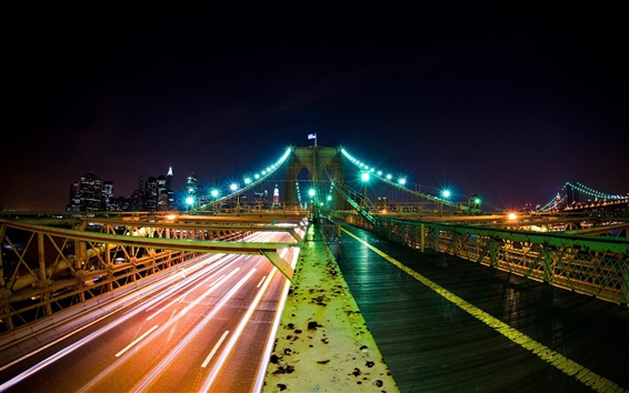 Fond d'écran Nuit ville pont
