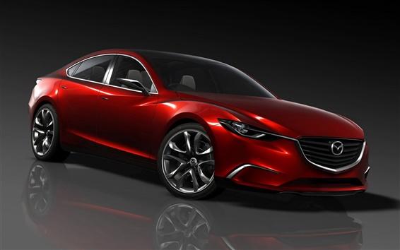 Wallpaper Red Mazda