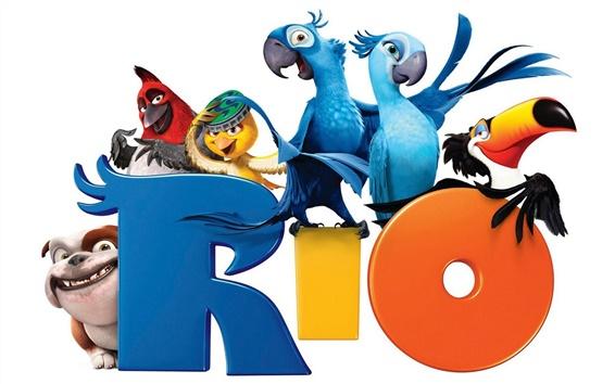 Wallpaper Rio cartoon movie