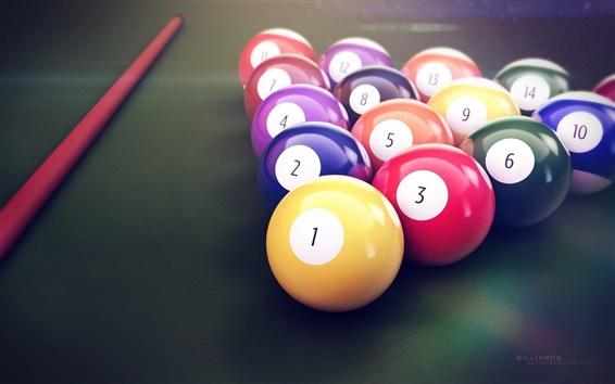 Fond d'écran couleurs Snooker