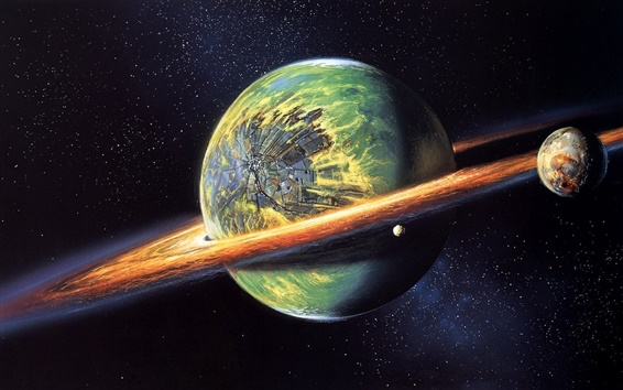 Wallpaper Suffered a collision of planets